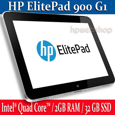 HP ElitePad 900 G1 Tablet 64GB SSD 2GB RAM with Keyboard Productivity Jacket