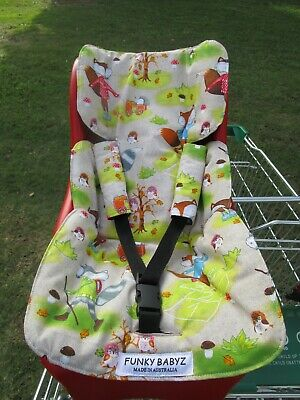 Handmade shopping trolley capsule liner-Fox playtime.