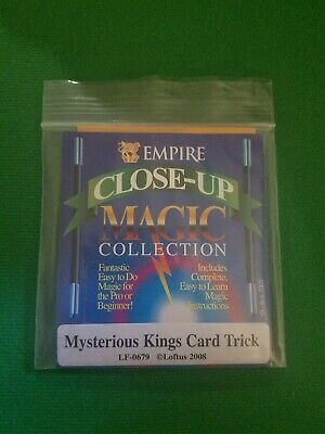 Mysterious Kings Gaff Card Trick Close Up Magic Bicycle