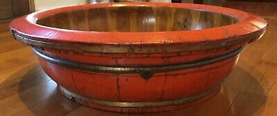 Lovely Vintage Large Chinese Wooden Tub