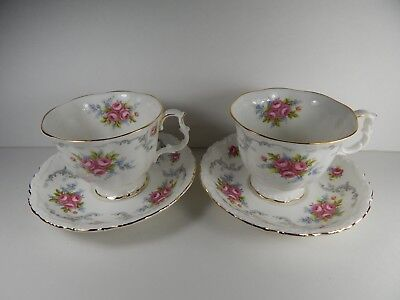 2 Royal Albert Tranquillity Tea Cups and Saucer sets.