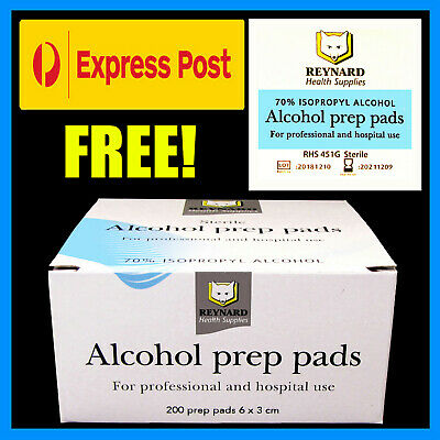 Reynard Alcohol Wipes / Sterile 70% Medical Isopropyl Skin Swabs, 25 - 1200 Qty