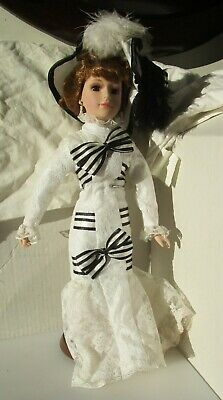 Nice Vintage Doll All Dressed Up with Stand