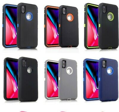 2Pack For iPhone 6 6S 7 XS Max XR Case Hybrid Heavy Duty Shockproof Rubber Cover