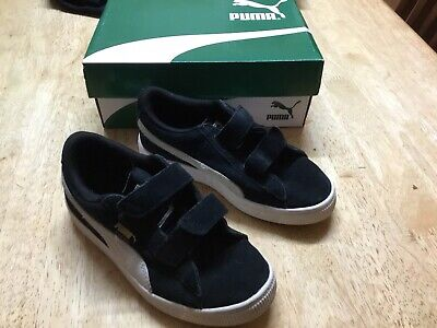 Childs' Puma Black & White Suede Sneakers - Size 13 - In Box
