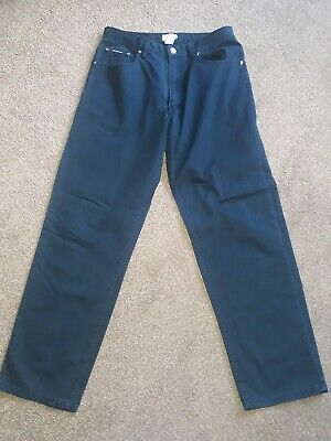 "Calvin Klein 100% Cotton Faded Black Lightweight Tapered Leg Jeans W32"" L30"""