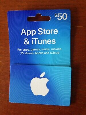 $50 Apple App Store & iTunes Gift Card.