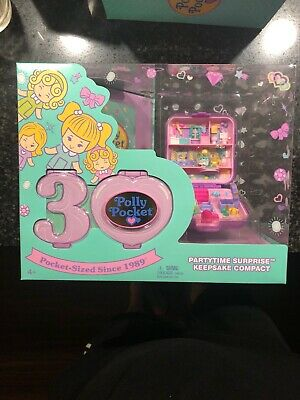 Polly Pocket Partytime Surprise Keepsake Compact New 30 Years