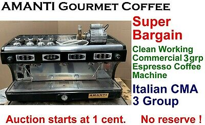 SuperBargain Clean Working Italian3grp Commercial Espresso Coffee Machine+AMANTI