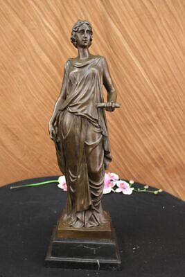 Victorian Classical Bronze Sculpture Minerva Athena Goddess Of War Hand Made LRG