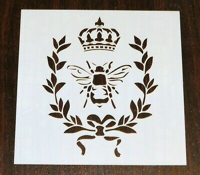 Mixed Media Stencil Mask Template, Bee, Crown, Laurel Wreath – BNIP
