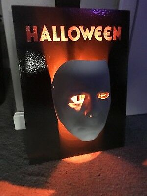 Halloween Michael Myers Mask LED Wall Display Halloween Freddy Jason Chucky