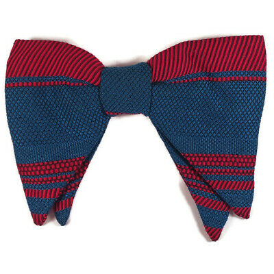 46dace9b4717 Vintage Royal Men's Jumbo Big Butterfly Bow Tie Clip on Blue Red 5.75 x 4 in