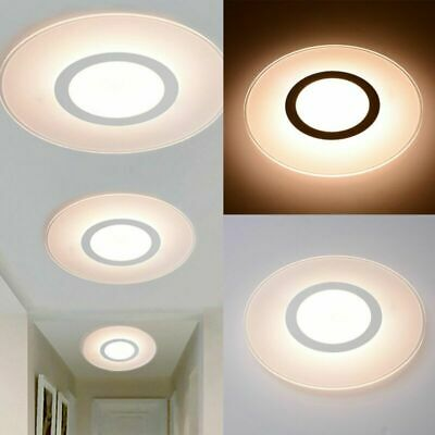 12W Bright Round LED Ceiling Down Light Panel Wall Kitchen Bathroom Lamp White