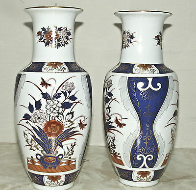 "10"" High Superb Imari Vases Japan pair. , no Knocks or Chips"