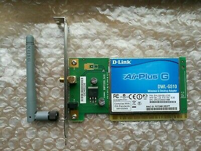 54MBPS WIRELESS-G LAN PCI CARD DWL-G510 DOWNLOAD DRIVERS