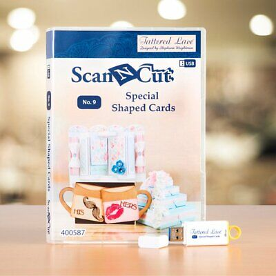 Brother ScanNCut Tattered Lace Shaped Cards Vol. 1 USB