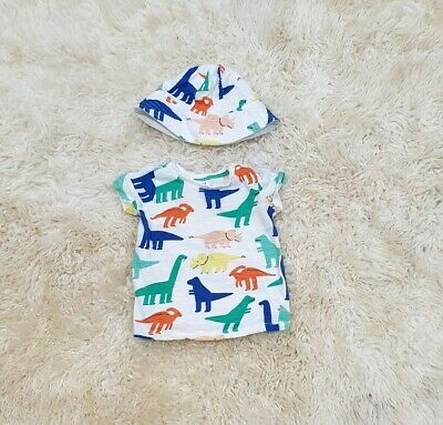 Seed Heritage Baby Boy Matching Hat and T-shirt.  Size 00 (3-6months)