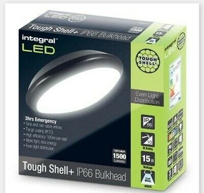 Emergency 3 hours Integral LED Black  15W 1400Lumens 4000K
