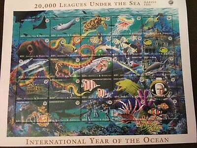 1998 Antigua & Barbuda - 20,000 Leagues Under the Sea-Marine Life, sheet of 25