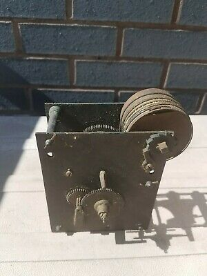 Antique bell striking Clock movement for restoration. c1800s