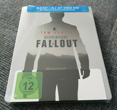Mission Impossible 6 Fallout (2018) Blu-Ray Steelbook Tom Cruise *Neu+Ovp*