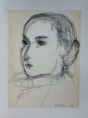 """""""Madame Suzanne Bistesi"""" & """"George Salles"""" By Matisse–1954 Lithographs (3A-7980)"""