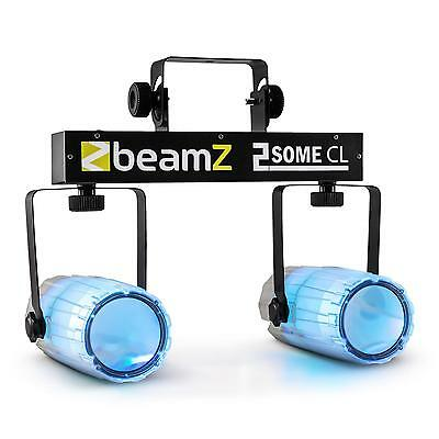 SET EFFETS LUMIERE BEAMZ 2 SOME 2xSPOT MICRO SUPPORT LICHTEFFECT TRANSPARENT