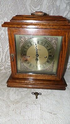 Vintage Herschede Westminster Chime Mantel Clock With Key