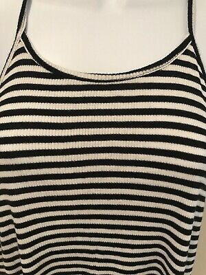 6bd75a51b08 Old Navy Large Women's Black & White Stripe Tank Top Summer Loose Stretch  Ribbed