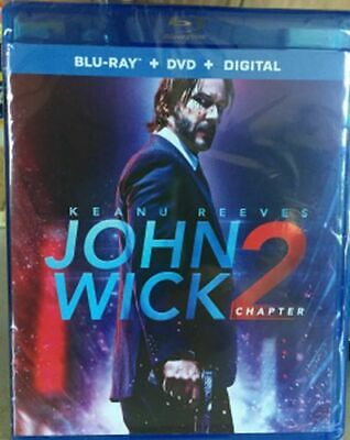 John Wick: Chapter 2 Blu-ray/DVD NEW Keanu Reeves, Common, Laurence Fishburne