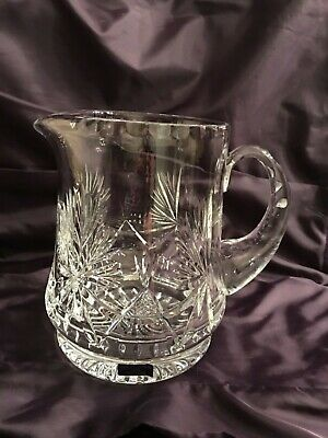 "Edinburgh Crystal  'Star Of Edinburgh' Pattern Large 6 1/2"" 2 Pint  Water Jug"