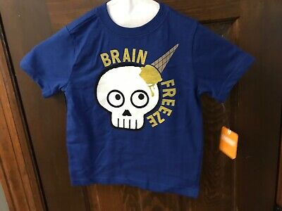 NWT Gymboree Jump into Summer Boys Brain Freeze Blue Shirt Size 3t