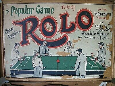 ROLO the Table Game for 2 or more peaples leather bellows 100years old