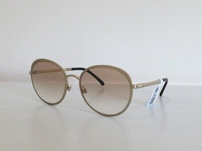 2f8ffc72a 52 CHANEL 4206 c.395/S5 Round Gold Gold Lenses Mirrored Sunglasses 55*