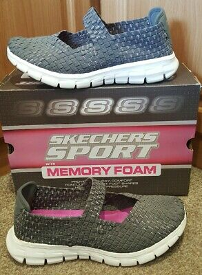 Skechers Synergy Stretch Weave Cross Over Mary Jane With