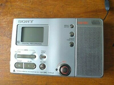 Sony MZ-B10 Personal MiniDisc Player/Recorder with built in speaker & microphone