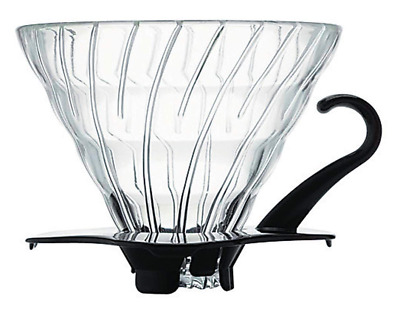 Hario VDC 02B V60 Glass Dripper Black Pour Over Coffee