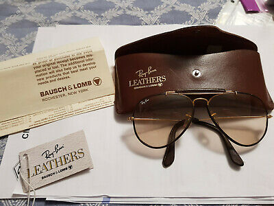 Vintage B&L Ray Ban Aviator Usa Bausch&Lomb Medium Original Leather Case