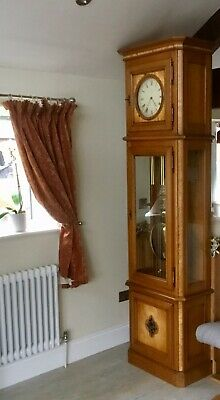 "French Long Case Grandfather Clock Excellent Condition 7ft 10""!!"