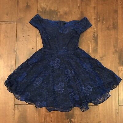 a81021a94fad9 WINDSOR Navy Blue Full Skirt Formal Dress Homecoming Prom Cocktail Party  Small