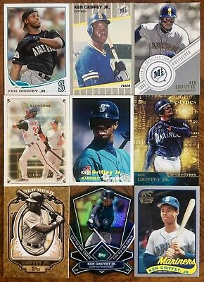 1a3966b0ef KEN GRIFFEY JR ~ HOF Lot Of 48 DIFFERENT Baseball Cards RC SP Premiums,  Inserts