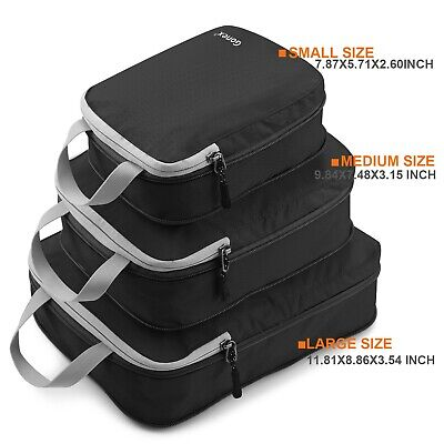 3 NEW Cubes Travel Packing Organizers Luggage Bags storage airport vacation