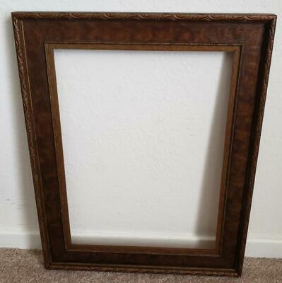 Vintage 1920's 10 3/4 x 14 1/4 Arts and Crafts Wood Picture Frame
