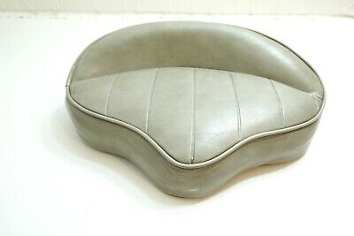"""Vintage Kr Industries Gray Faux Leather Oversized Bicycle Tractor ? 16 1/2"""" Seat"""