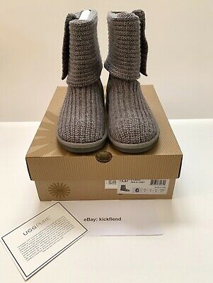 UGG Australia K Cardy Boots Grey Size 6 Girls/Big Kids Pre-Owned Great Condition
