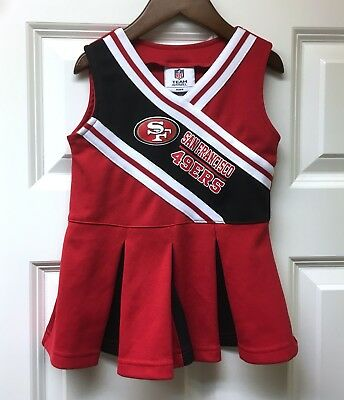 fbdfa8cf SAN FRANCISCO 49ERS NFL Infant & Toddler Size Cheerleader Outfit ...