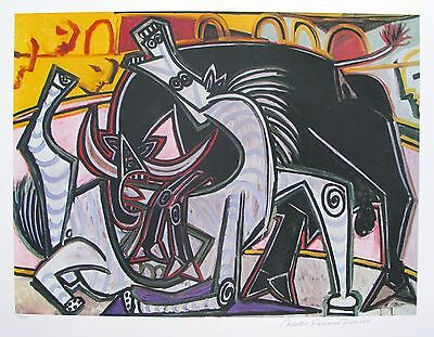 """Pablo Picasso BULLFIGHT Estate Signed & Stamped Limited Edition Giclee 20"""" x 26"""""""