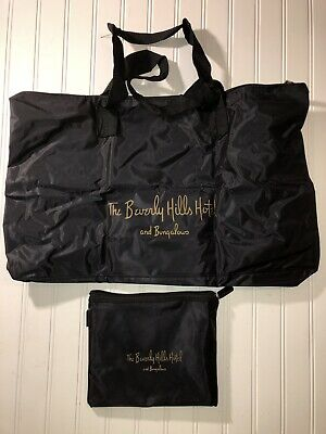 The Beverly Hills Hotel and Bungalow authentic nylon carry bag with small bag