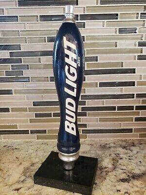 Bud Light Vintage White Beer Tap Handle Kegerator, Budweiser !